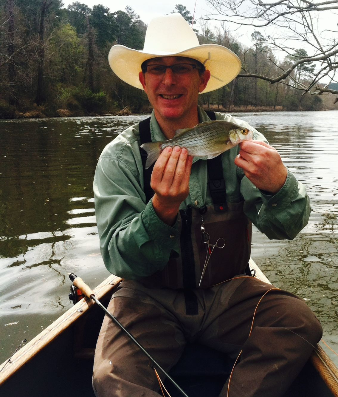 Rob fishing on the Haw River