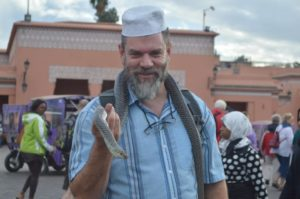 With a new friend, in Morroco