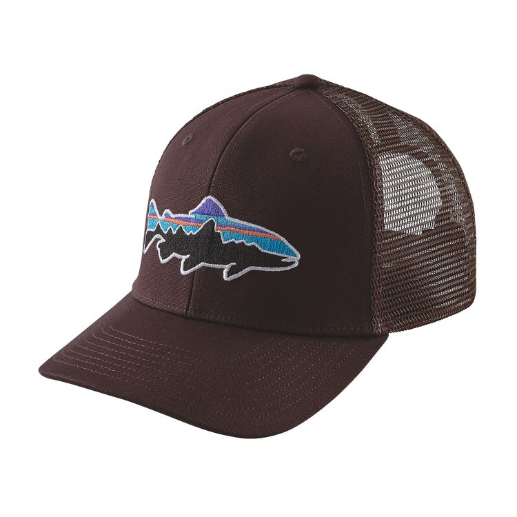 Patagonia fitz roy trout trucker hat great outdoor for Patagonia fish hat