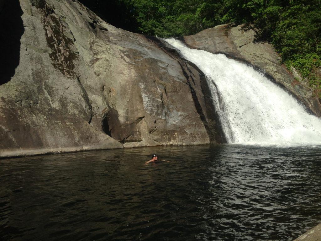 Summer cool down at NC Waterfall, North Harper Falls