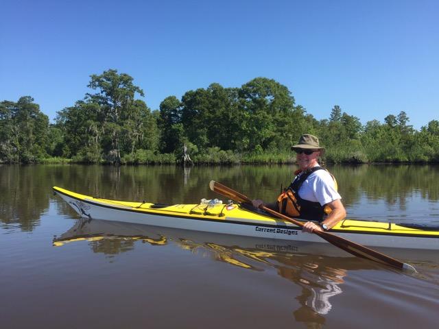 Bill Mauney paddling the Tar River