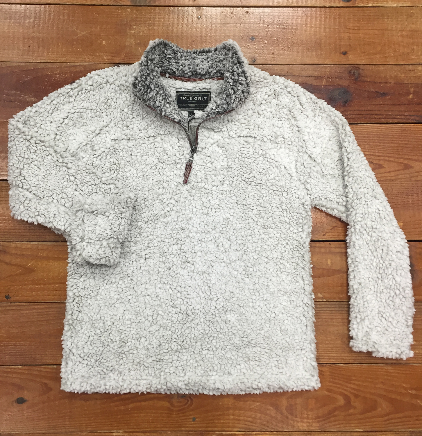 true grit frosty tipped pile pullover