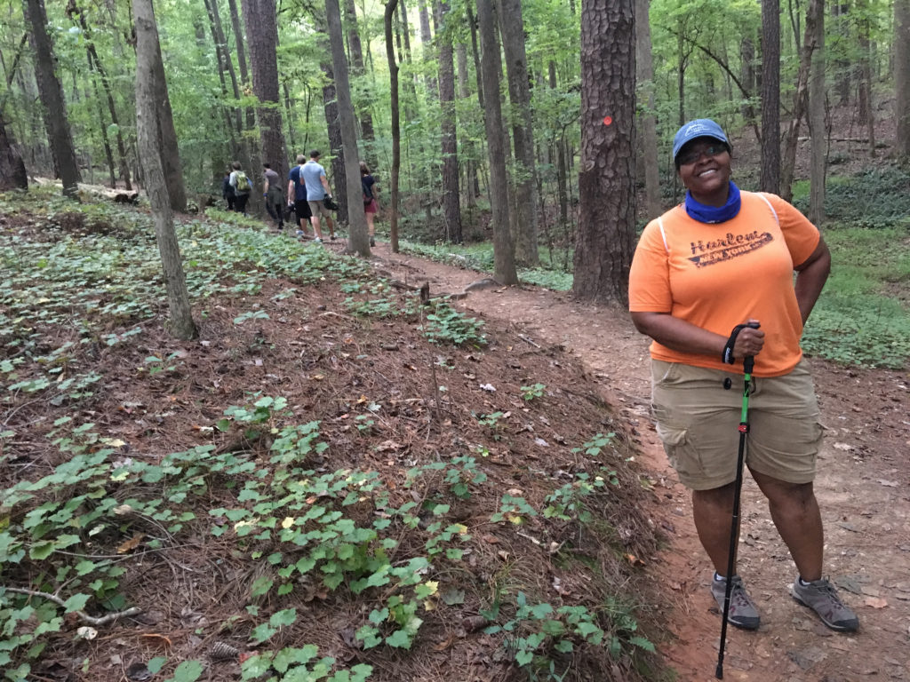 Kimberly Dixon on the Sal's Branch Trail