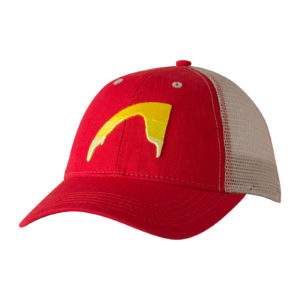 sunset-peak-trucker-cap-engine-red