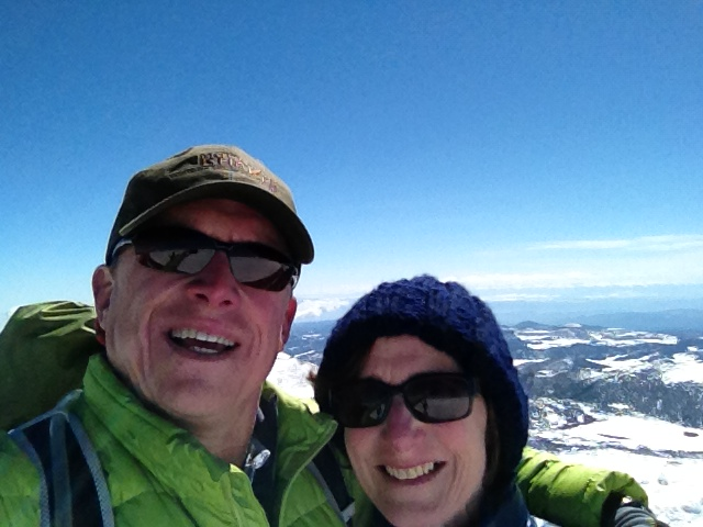 The family that explores together ... Chuck Millsaps and wife Kim atop Colorado's Pikes Peak.