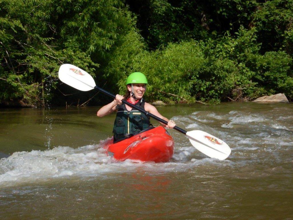 Johanna - Paddling on the Mayo River, NC