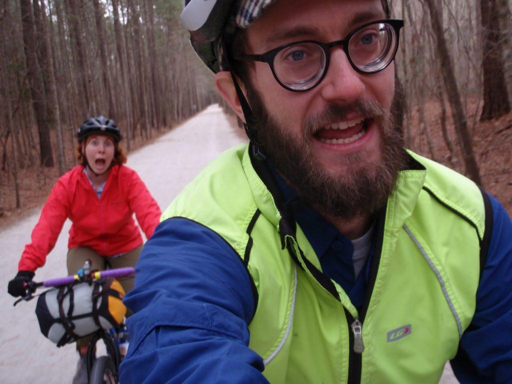 Tom - Bike camping with Pam Andrae American Tobacco Trail, Durham NC 2015