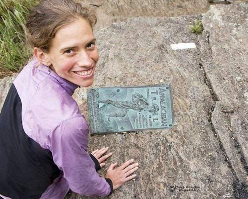 Jennifer Pharr Davis, at Springer Mountain, Ga.