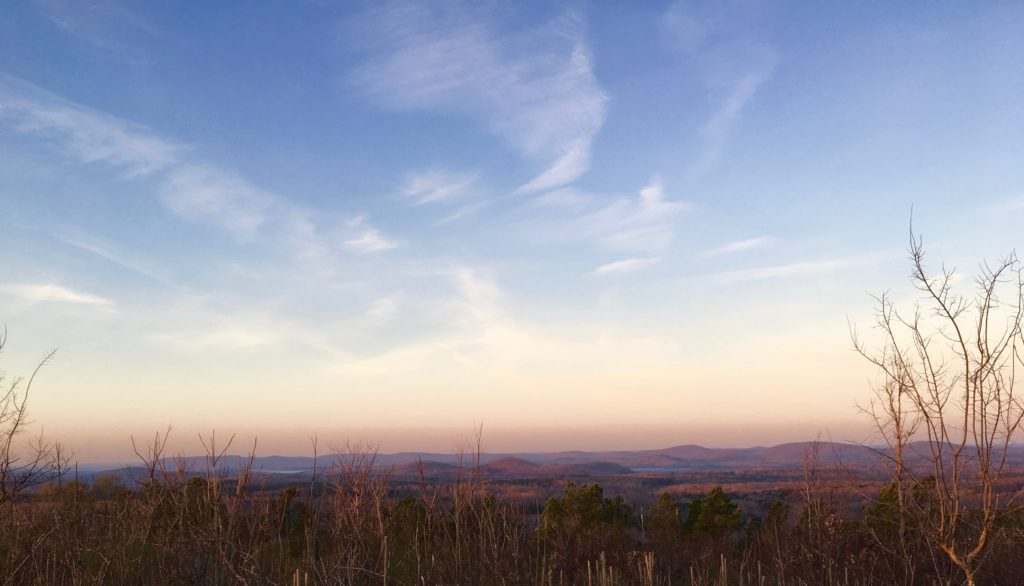 Uwharrie Mountains, looking southwest from Little Long Mountain