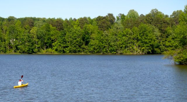 Open water on Lake Brandt