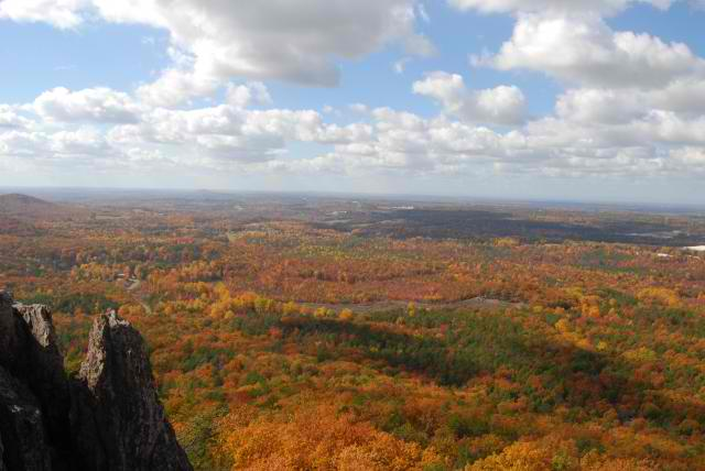 View from The Pinnacle at Crowders Mountain State Park (photo courtesy NC State Parks)