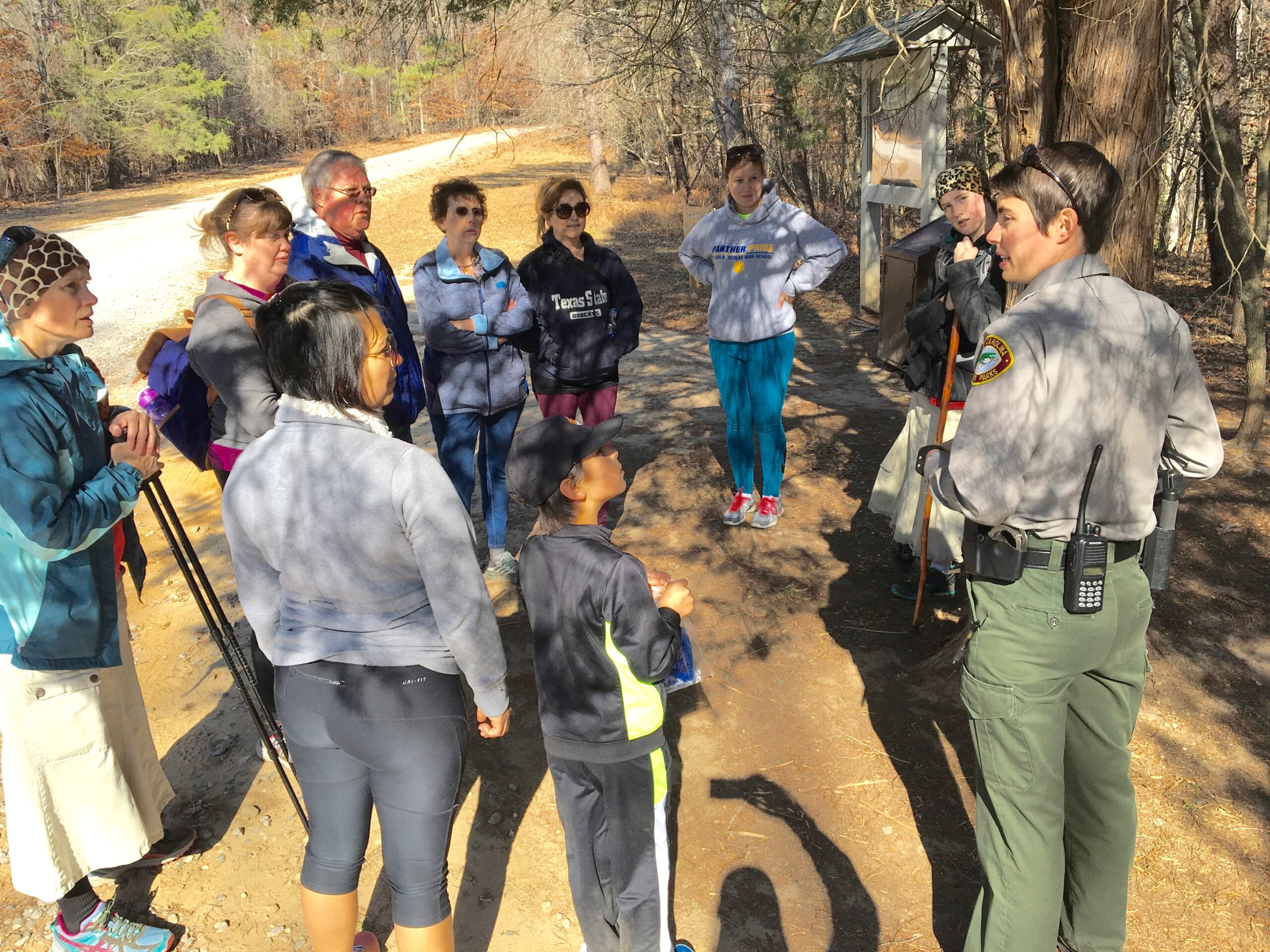 A State Park ranger is a good bet for insuring a positive experience on your first group hike.